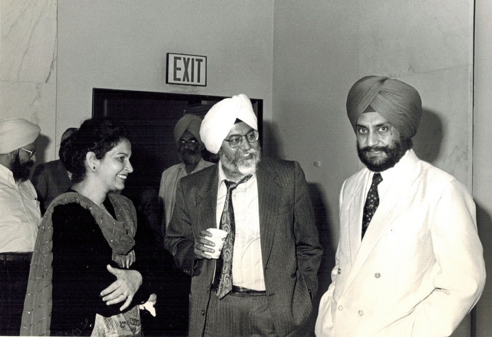 Scholars and Sikh leaders at a conference (1989)