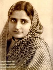 Chattar Kaur, the first female to come overseas to study (1936)