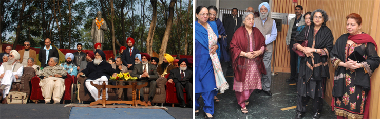 At the inaugration of Kalepani Center, Chandigarh at the release of Sikh Heritage, IIC, Delhi (December 2013)