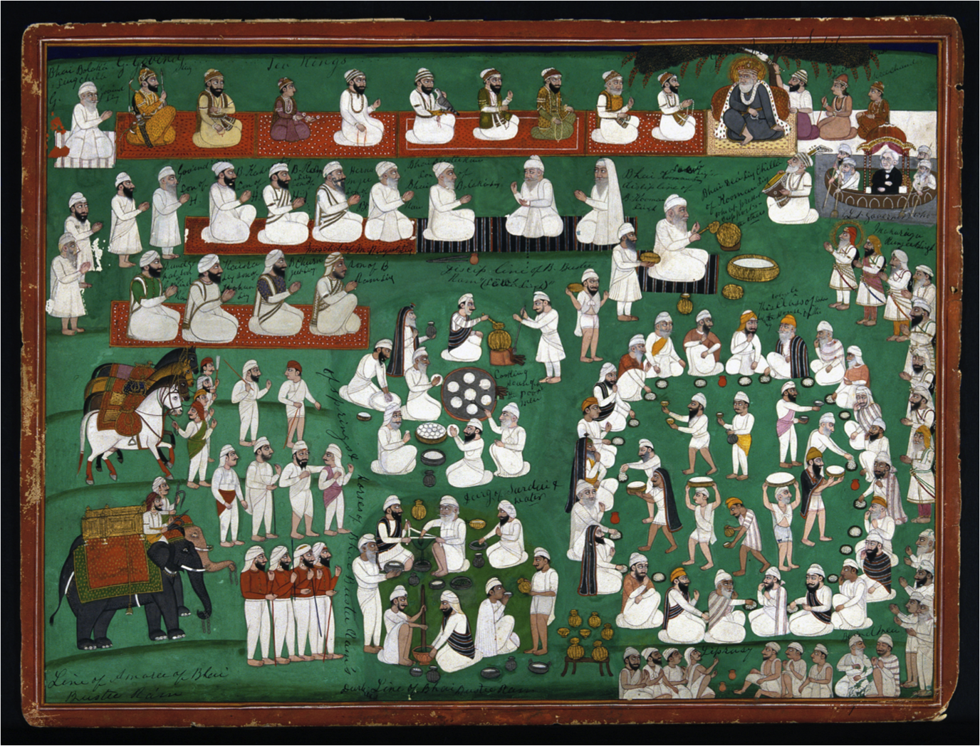 A langar scene (mid-19th century, c. Imperial War Museum, London)